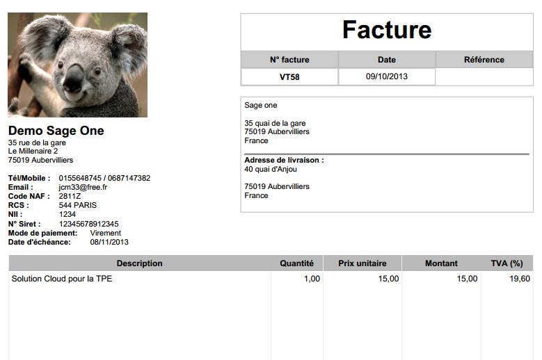 facture archives sage one. Black Bedroom Furniture Sets. Home Design Ideas